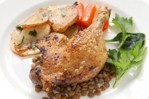 19451240 - duck confit, french bistro dish