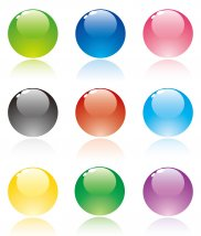 12483230 - set of translucent crystal ball, vector collection