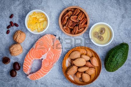 59038758-selection-food-sources-of-omega-3-and-unsaturated-fats.-super-food-high-omega-3-and-unsaturated-fats
