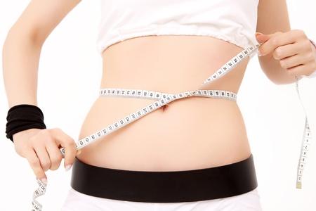11073503 - woman measuring her waist