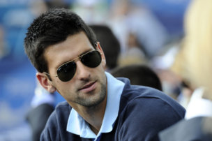 83839188 - belgrade, serbia, may 9, 2010: serbian tennis player novak djokovic in the public