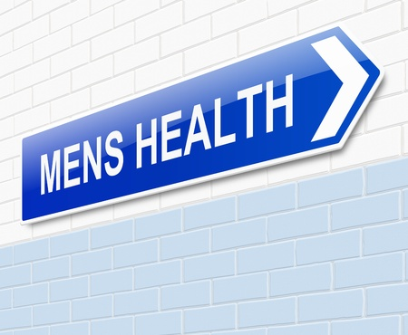 22009863 - illustration depicting a sign directing to mens health.