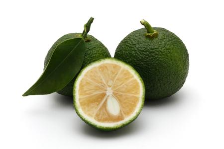 87641169 - citrus fruit yuzu citrus, green