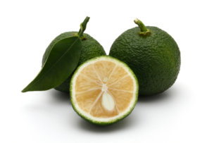87641169 - citrus fruit yuzu citrus, green