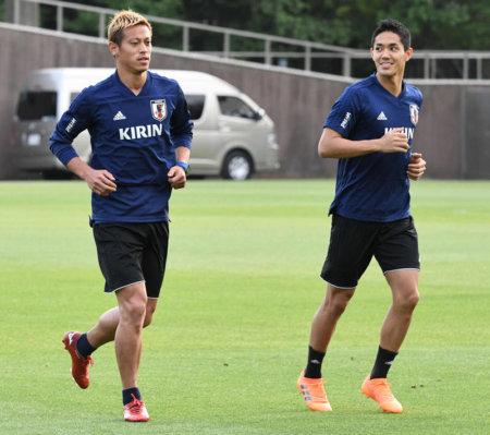 サッカー日本代表 千葉県内でガーナ戦へ向け国内合宿スタート!